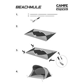 CAMPZ Beachmule - beige/gris